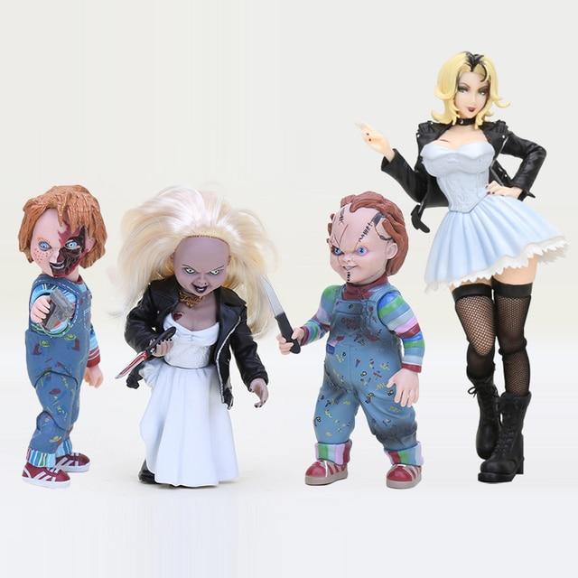 A noiva de chucky Chucky NECA BONS Mocinhos Boneca PVC Action Figure Collectible Modelo Toy 10 cm