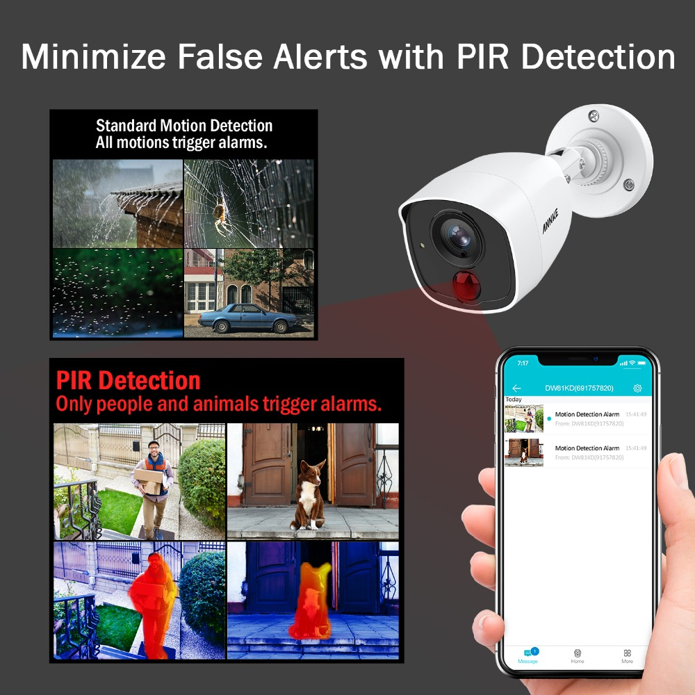 Image 5 - ANNKE 8CH 3MP 5in1 CCTV DVR HD 4PCS TVI Security Camera PIR Detection Outdoor Bullet Camera Home Video Surveillance System Kit-in Surveillance System from Security & Protection