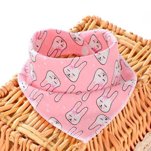 Cotton Bandana Bibs Baby Babador Feeding Smock Infant Burp Cloths Cartoon Saliva Towel Baby Eating Accessory Soft Baby Stuff