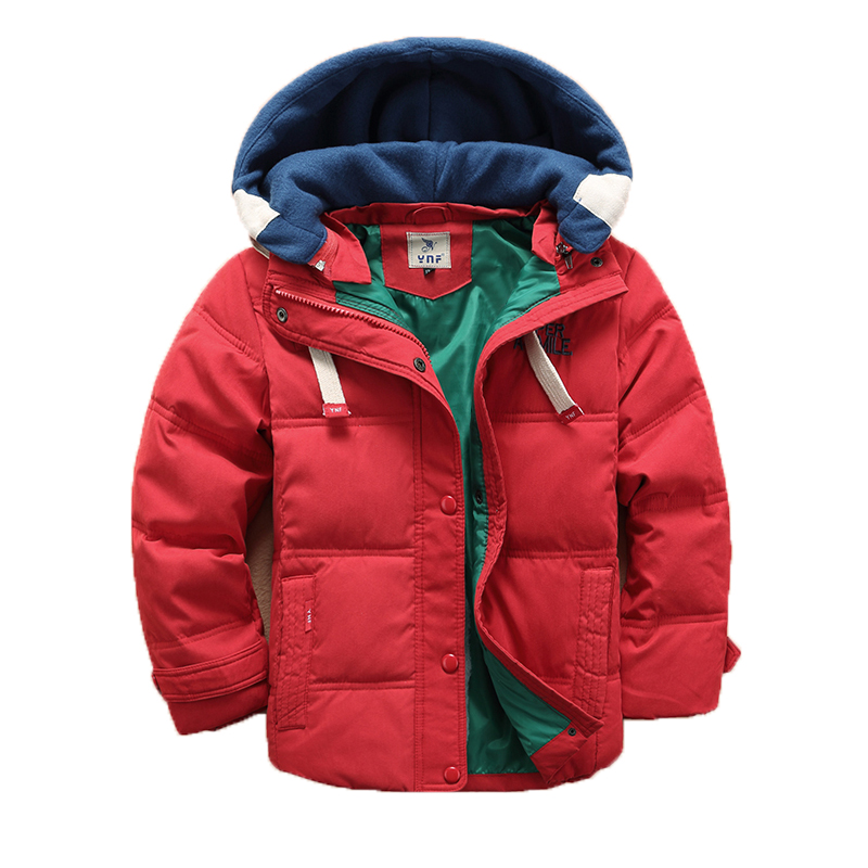 Boys Winter Coats Padded Jacket Outerwear Fashion Hooded Thick Warm Children Parkas Overcoat 2017 New Arrivals Manteau Garcon 12 children winter coats jacket baby boys warm outerwear thickening outdoors kids snow proof coat parkas cotton padded clothes