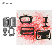 JC Metal Cutting Dies for Scrapbooking Old Television Craft Stencil Handmade Cut Cards Making Model Template Decoration