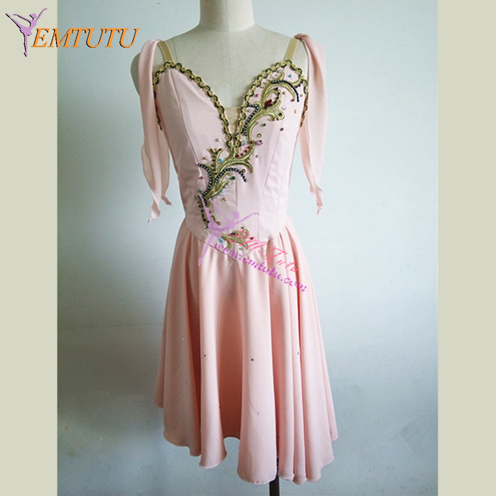 Talisman Professional Ballet Costume Dress Peach Pink Cupid Ballet Stage Costume Diana And Acteon Variation Ballet
