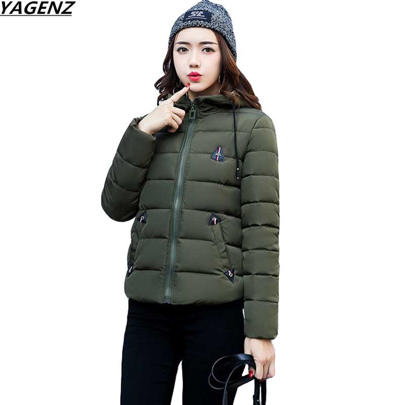 2017 NEW Winter Cotton Jacket Women Hooded Long Sleeve Outerwear Thicken Warm Cotton-padded Jacket Plus Size Women YAGENZ K417 warm thicken baby rompers long sleeve organic cotton autumn