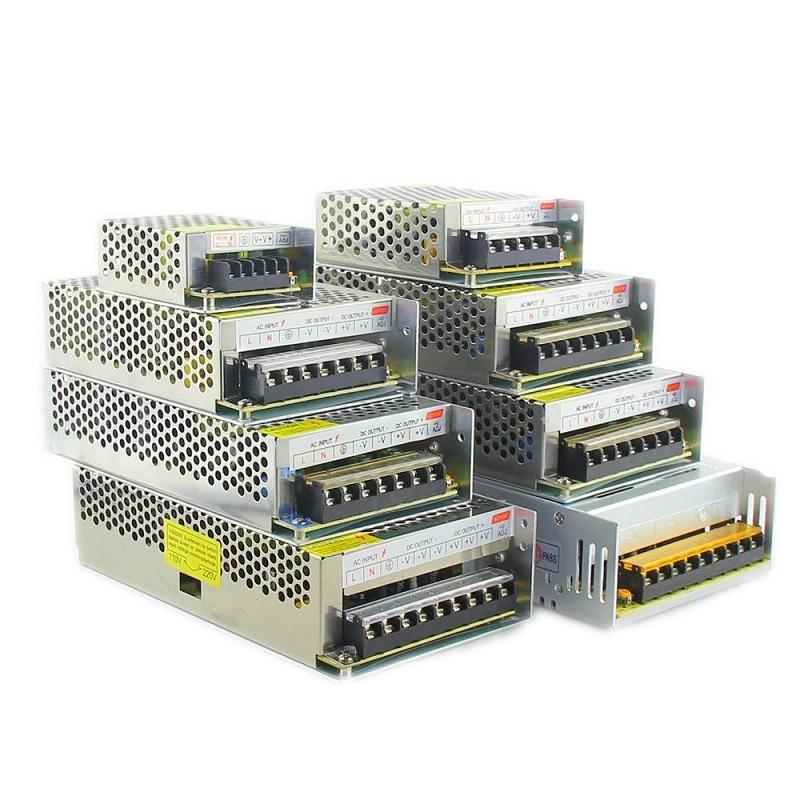 Купить с кэшбэком AC 110V-220V TO DC 5V 12V 24V 1A 2A 3A 5A 10A 15A 20A 30A 50A Switch Power Supply Driver Adapter LED Strip Light