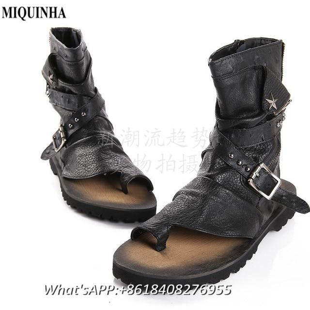 Sandales Homme Cuir D'été MIQUINHA Plage Cool En Chaussures Homme URx5qwO