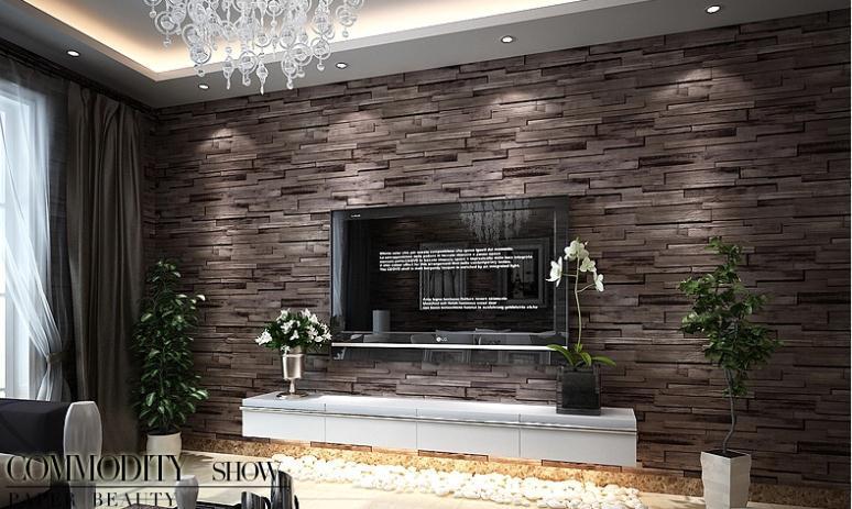 Buy Pvc Wood Stone Brick Wallpaper 3d Modern Wall Paper Luxury Classic Vintage