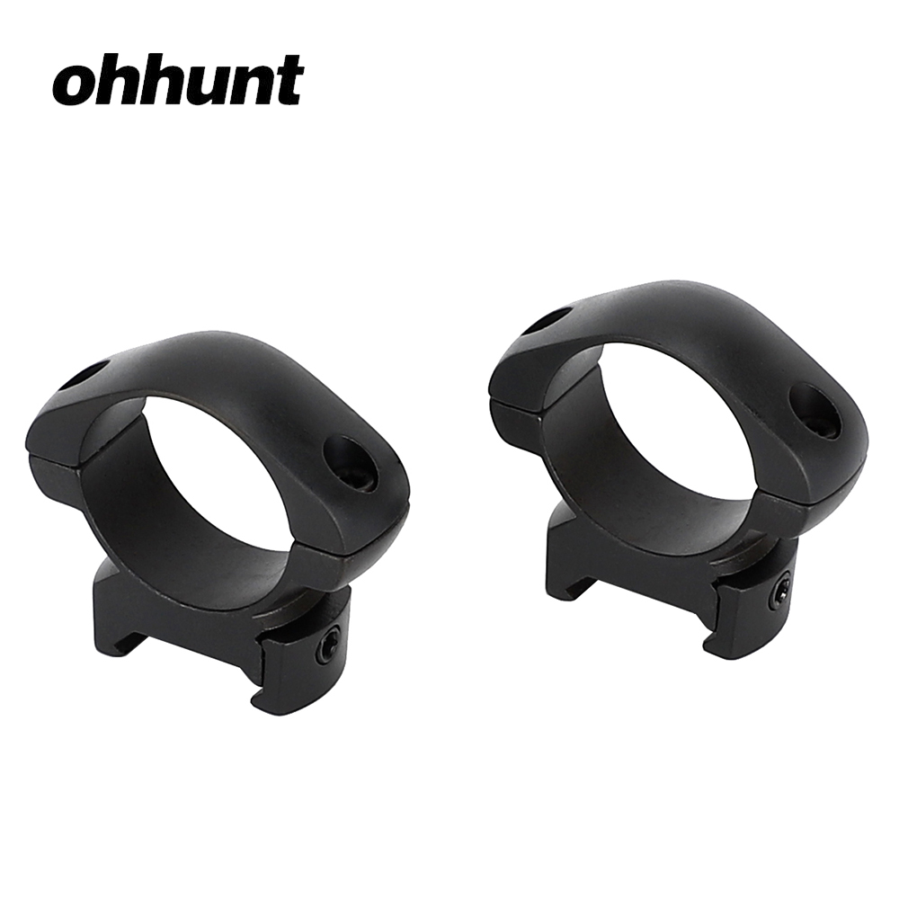 ohhunt 30mm Diameter 2PCs Low Profile Standard Picatinny Weaver Steel Scope Rings Tactical Hunting Sport Mounts Accessories