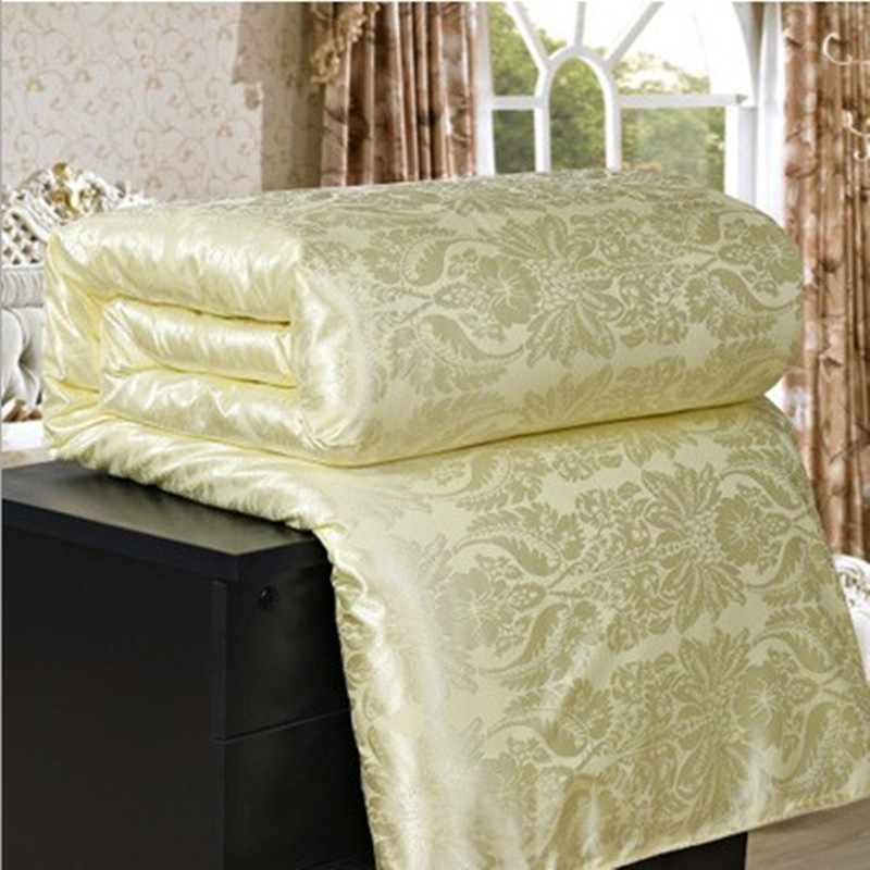 Silk Summer&winter Quilt Air Condition Blanket Satin Jacquard Large Size Adult Comforter Bed Cover Home Hotel Use Edredon