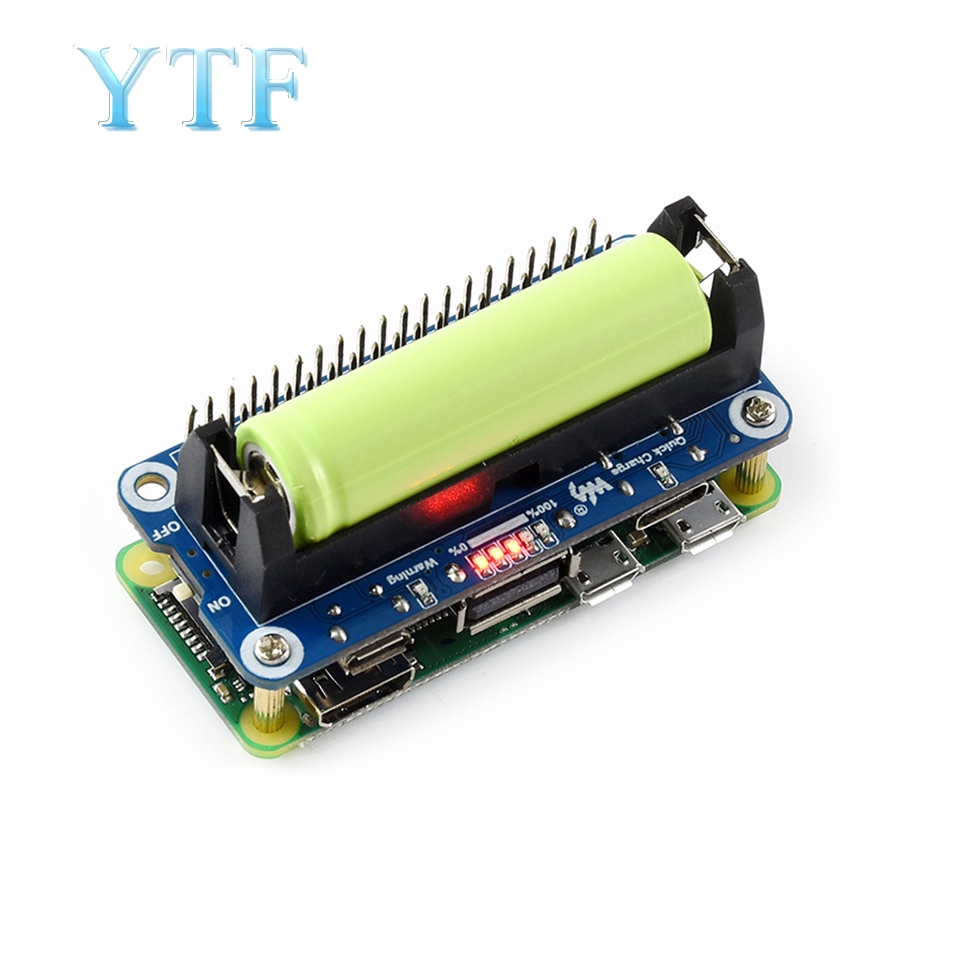 Wendry Expansion Board,Dual USB Output Lithium Battery Expansion Board for Raspberry Pi3 Independent Power Supply