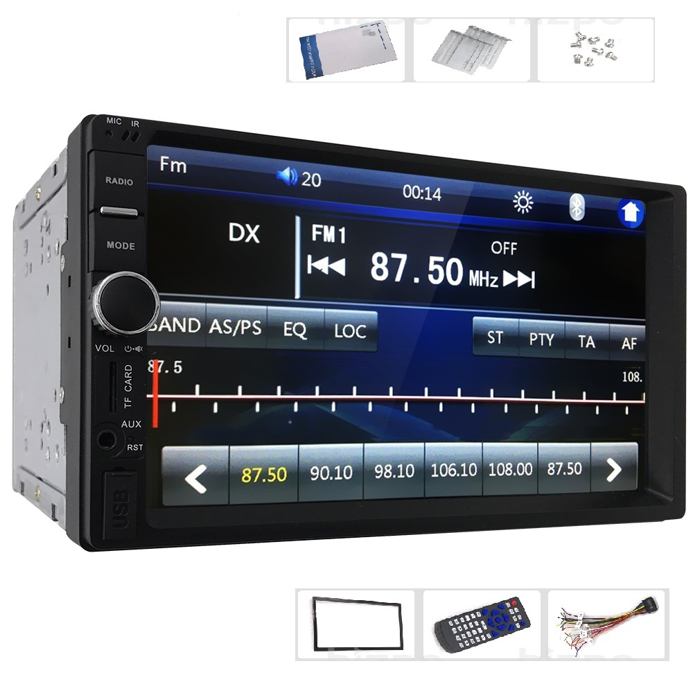 7 HD Touch Screen Car Stereo MP4 MP5 Player 2 Din Bluetooth 3.0 In Dash Aux FM Radio USB SD Audio Video Player Remote Control 2017 6 2 hd capacitive touch screen car bluetooth stereo dvd player cd mp3 fm am usb sd aux in 2 din receiver mp4 mp5 player