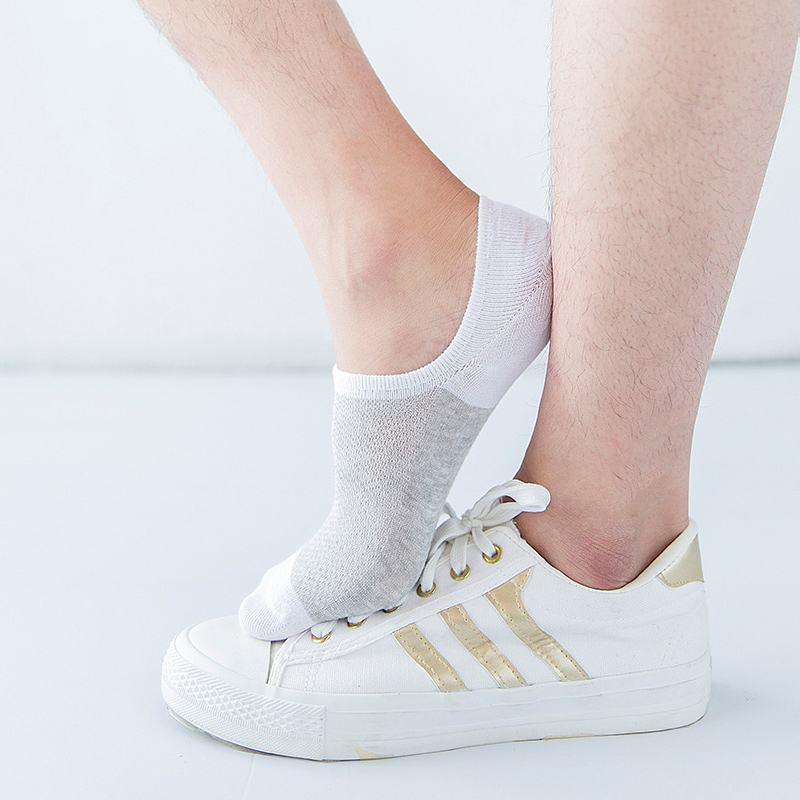 2 pairs lotUnisex Soft Women Cotton Socks Boat Non Slip Invisible Low Cut No Show Socks Spring Summer Autumn 5 colours in Sock Slippers from Underwear Sleepwears