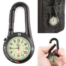 1 Pc  Outdoor Carabiner Fluorescent Watches Backpack Buckle Rock Climbing Hook Luminous Watch-Face