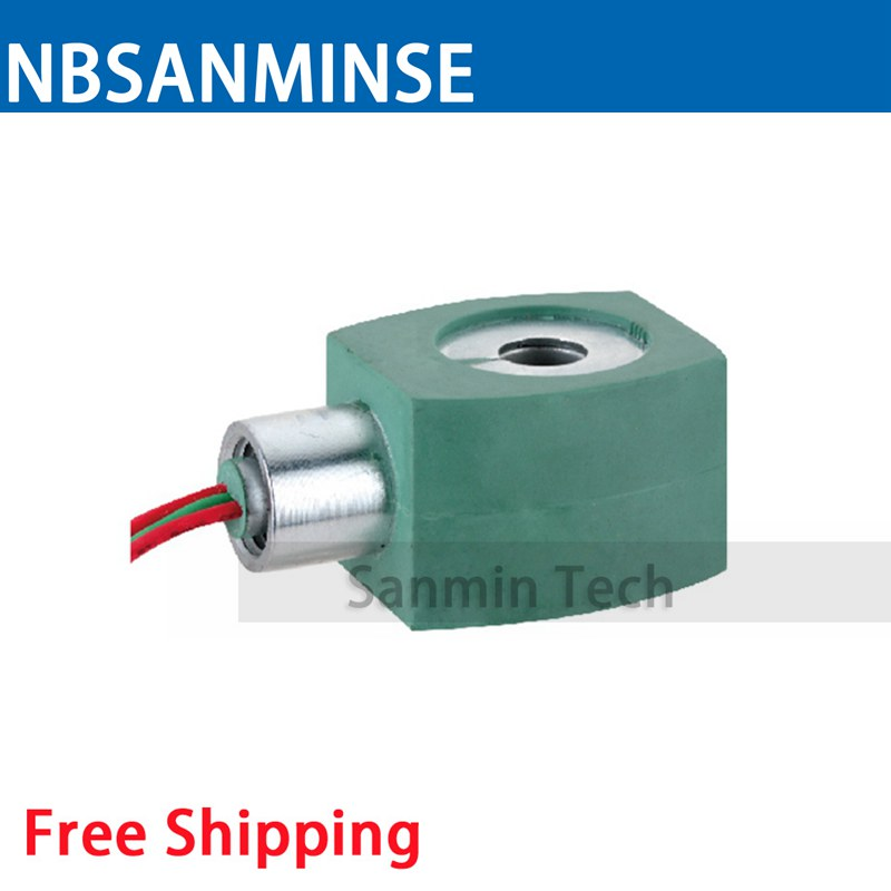 MPC080 Solenoid Valve Series Coil Electrical Solenoid Valve Coil AC110V Voltage Lead Type Valve Coil Sanmin