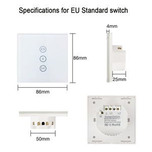 Image 2 - Tuya Smart Life WiFi Curtain Blinds Switch for Electric Roller Shutter motorized Voice Mobile Remote Control Wall Touch Switch