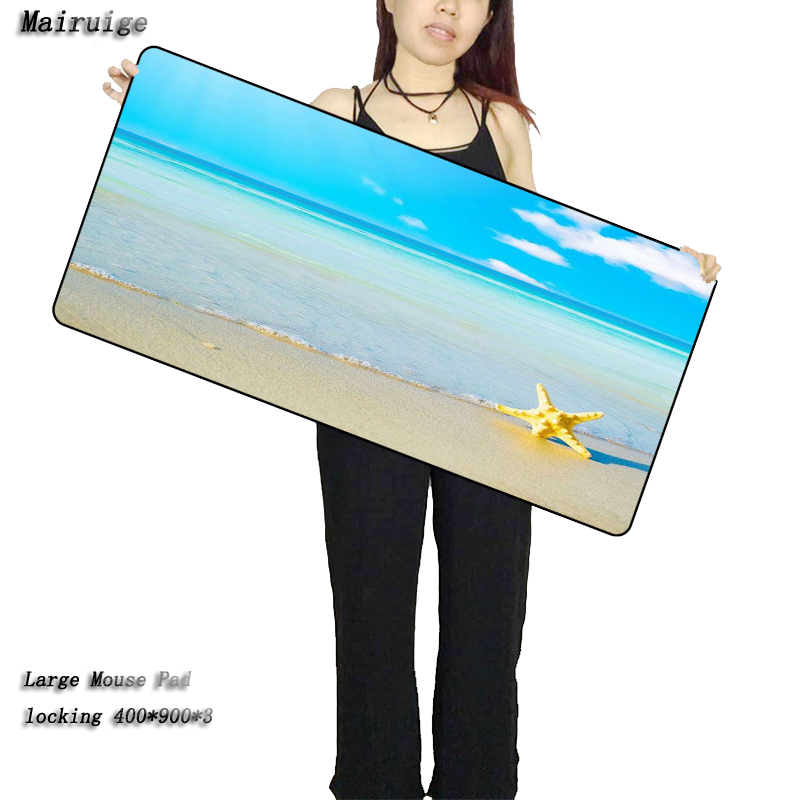 Mairuige Seaside Scenery Mouse Pad <font><b>900x400x3mm</b></font> Pad To Mouse Notbook Computer Mousepad Big Gaming <font><b>Padmouse</b></font> Gamer To Laptop Mouse image