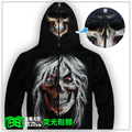 Luminous sweatshirt neon skull mask lovers sweatshirt male sweatshirt outerwear casual coat