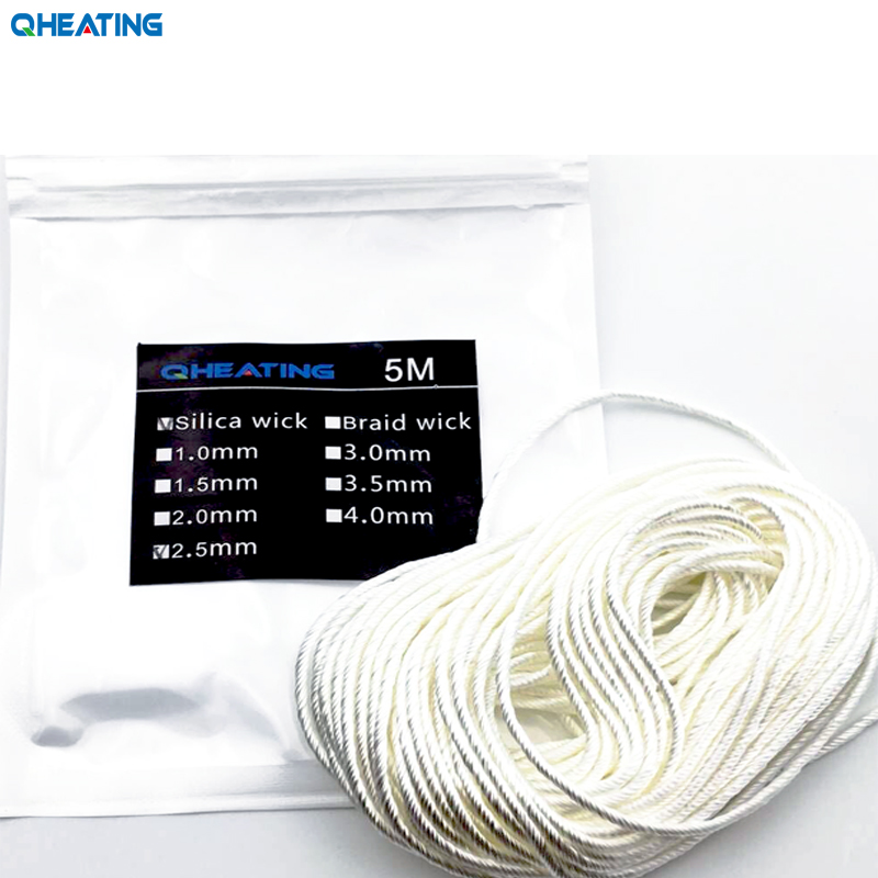 Qheating Professional Silica Wick 1.0mm-3.5mm For 5m Long For CE4 Atomizer And Ego Electronic Cigarette Atomizer Coil