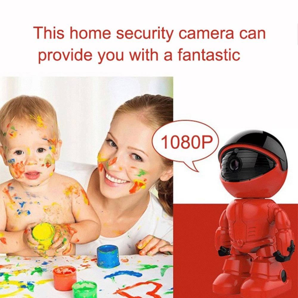 1080p Hd Network Camera Two-way Audio Wireless Network Camera Night Vision Motion Detection Camera Robot Pet Baby Monitor Security & Protection Video Surveillance