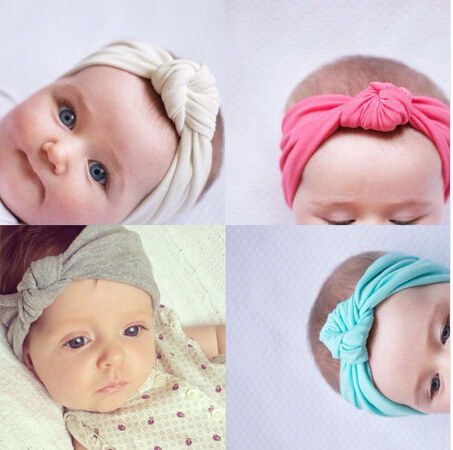 f8e973a1230 10pcs Wholesale Children Tie Knot Headband Knitted Cotton Elastic Baby  Girls Hair Band Toddler Turban Headband bandeau bebe