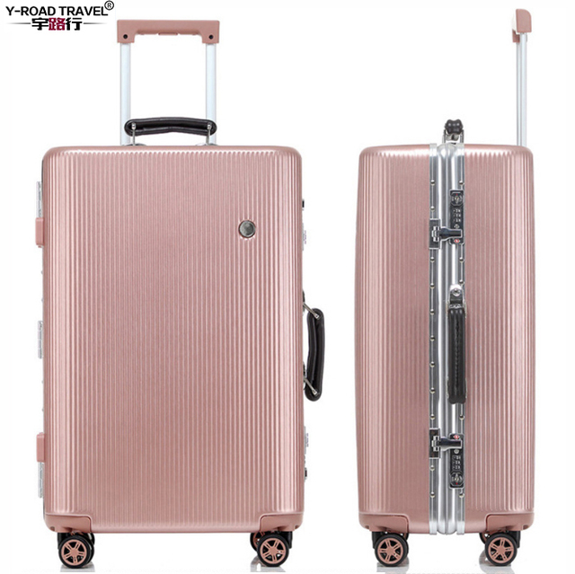 "New 20""24""26""29"" Aluminum Frame & PC Shell Trolley Suitcase With Wheels Rolling Hardside Luggage For Sale"