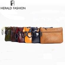 Herald Fashion Genuine Leather Small Mini Coin Purse Change font b Wallet b font Purse Women