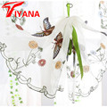 Painel de cortina borboleta roman janela valance cortinas da cozinha de casa tecidos de fios de corda de fios de cortina rústico personalizar DS079 #20