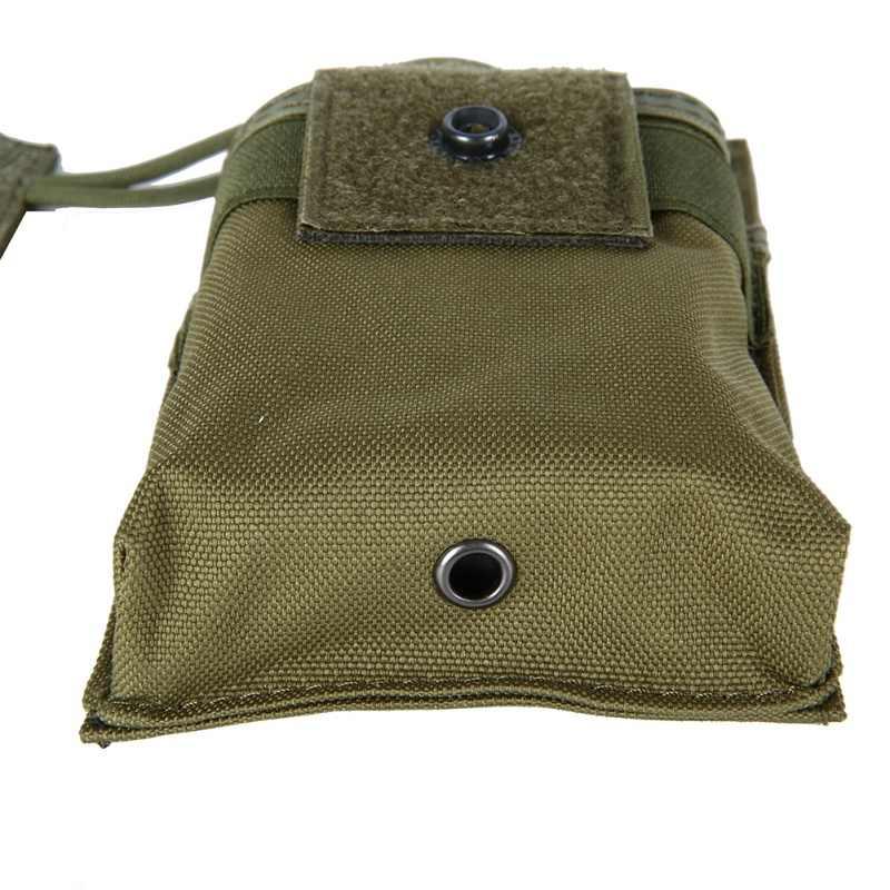 Soporte de carcasa de Radio táctica, funda para walkie-talkie, bolsa Molle ajustable, bolsa táctica con tapa abierta para revista M4 Mag