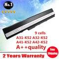 Замена 9 ячеек аккумулятор для ноутбука ASUS жк-a52 A52J к42 K42F K52F K52J K52JE K52JK k52jr, A31-k52 A32-K52 A41-K52 A42-K52