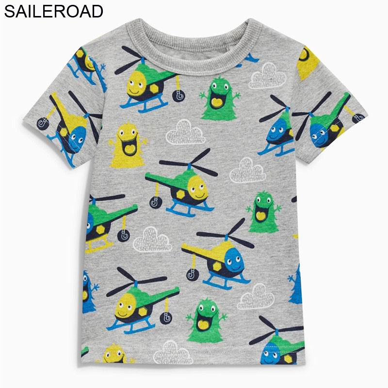 SAILEROAD 2-7Years Cotton Summer Children Kids Boys T Shirt Cartoon Plane Baby Toddler Boys Girls Tops Tees Clothing T Shirts new plane boys clothing set cartoon dusty plane casual kids clothing sets for boys summer t shirt pants children clothing set