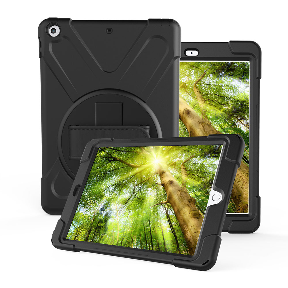 Heavy Duty Case Full-body Rugged Hybrid Protective Case Cover with Built-in Screen Protector For New iPad 9.7 2017 for new ipad 9 7 inch 2017 kickstand case heavy duty shockproof rugged armor three layer hard pc silicone full body protective