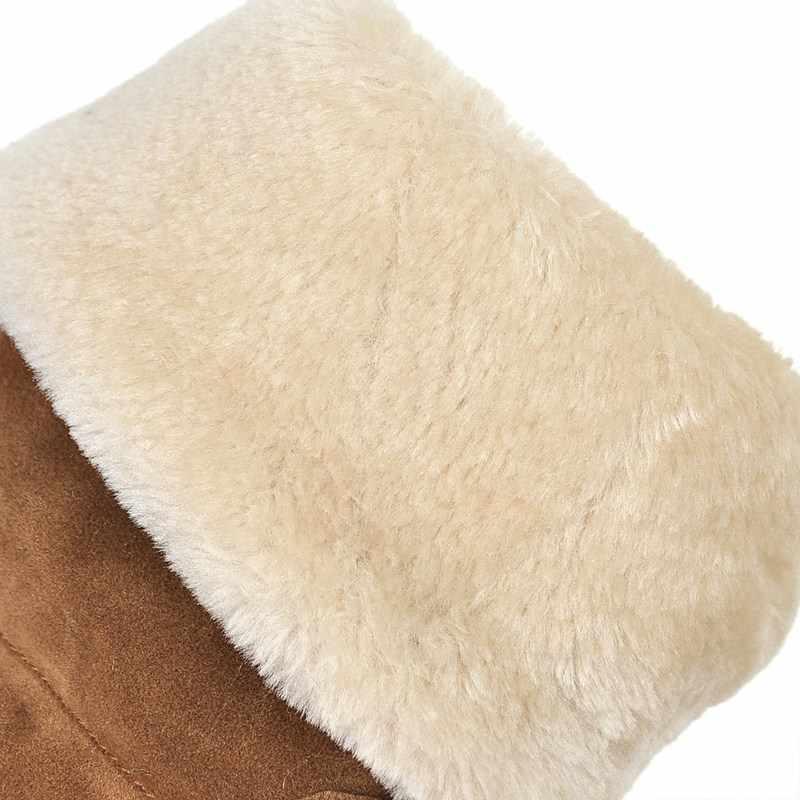 QZYERAI Nuovo arrivo peluche di inverno stivali da neve caldo delle donne stivali piatti nappa stivali da neve caldo delle donne formato dei pattini 34- 43