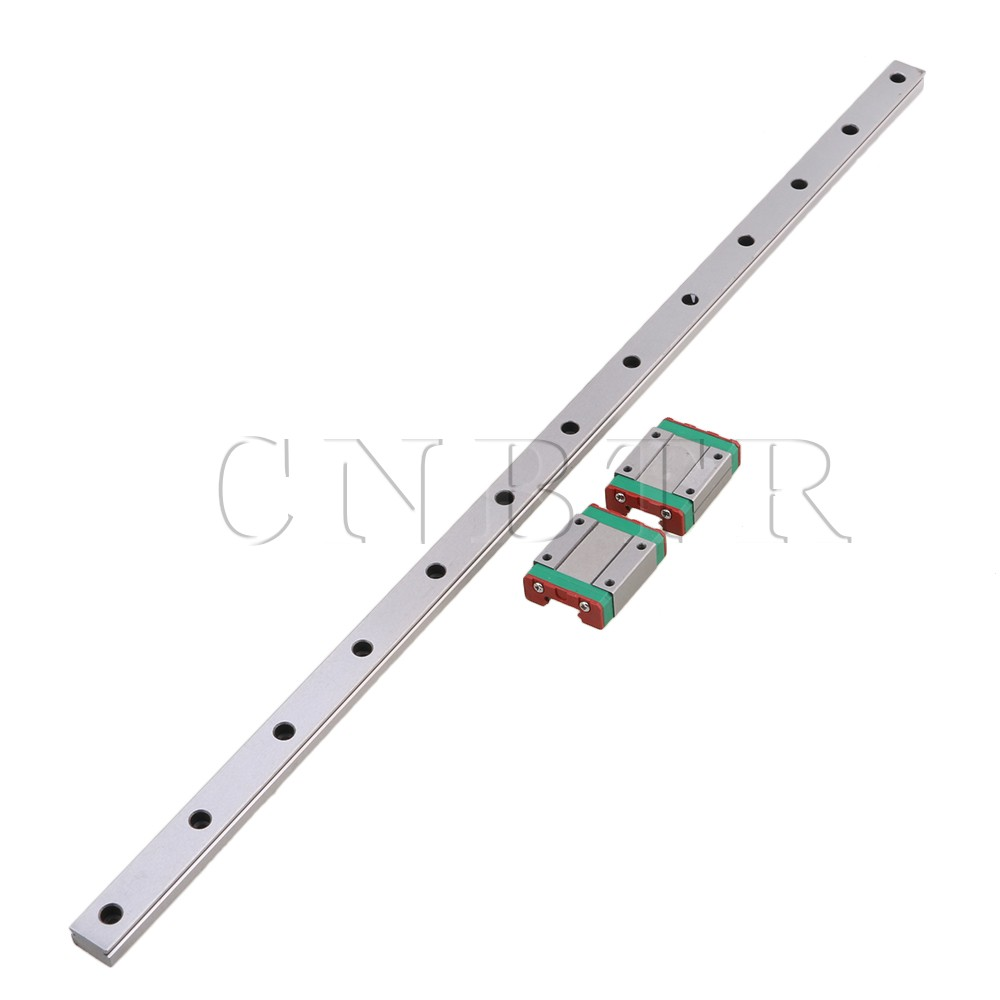 CNBTR 500mm Length Bearing Steel Linear Sliding Guide Slide Rails & 2PCS MGN15 Linear Extension Block for CNC 3D PrinterCNBTR 500mm Length Bearing Steel Linear Sliding Guide Slide Rails & 2PCS MGN15 Linear Extension Block for CNC 3D Printer