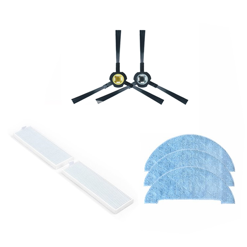 A9S Robot Hepa Filter Mop Cloths Side Brush For Ilife A9S Robotic Vacuum Cleaner Parts Accessories Spare Side Brushes