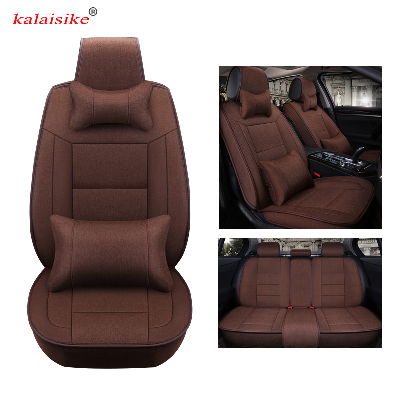 Kalaisike Flax Universal Car Seat Covers For Acura All