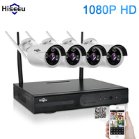 1080P Wireless CCTV System 2MP 4CH Powerful NVR IP IR CUT Outdoor Bullet CCTV Camera IP