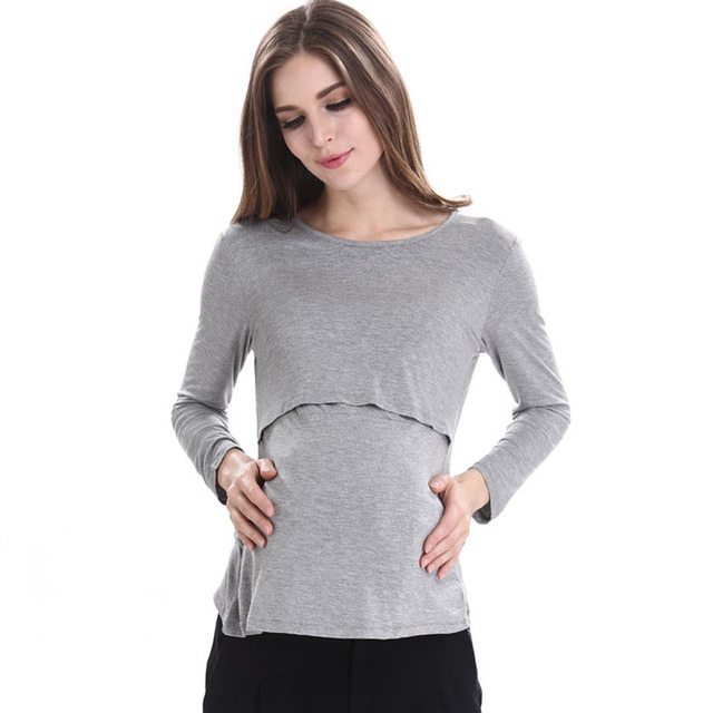 070d7bf21cf Nursing Tops Maternity Clothes Tees Breast Feeding Maternity Clothing  T-shirt Pregnancy Breastfeeding Clothes For Pregnant Women