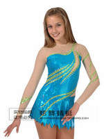 ice skating dress blue custom figure skating dresses for competition hot sale clothing for ice skating free shipping