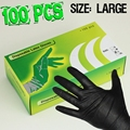 100PCS Disposable Tattoo Gloves Black Medical Nitrile Gloves For Tattoo Supplies Large Size Free Shipping TA-206-L