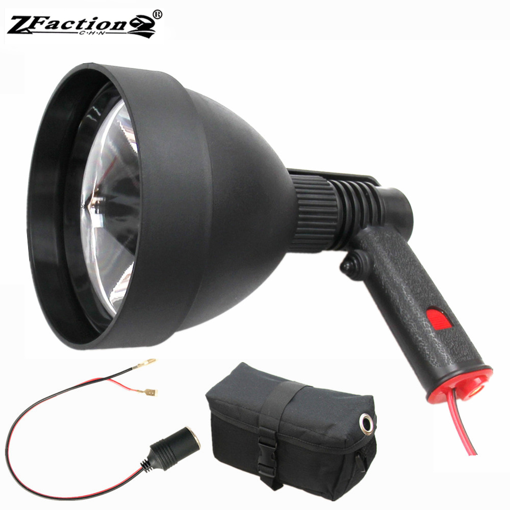 Powerful Usa Imported Cree 25w Led Hunting Lights 2500lm 150mm Hunting Lamp Portable Spotlight With Female Plug 7ah Battery Bags Be Friendly In Use