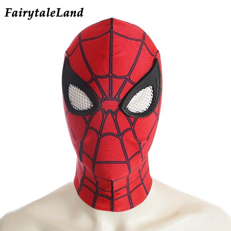 Spiderman cosplay costume adult Halloween costumes custom made Spider-Man Homecoming costume Spandex Spiderman  jumpsuit