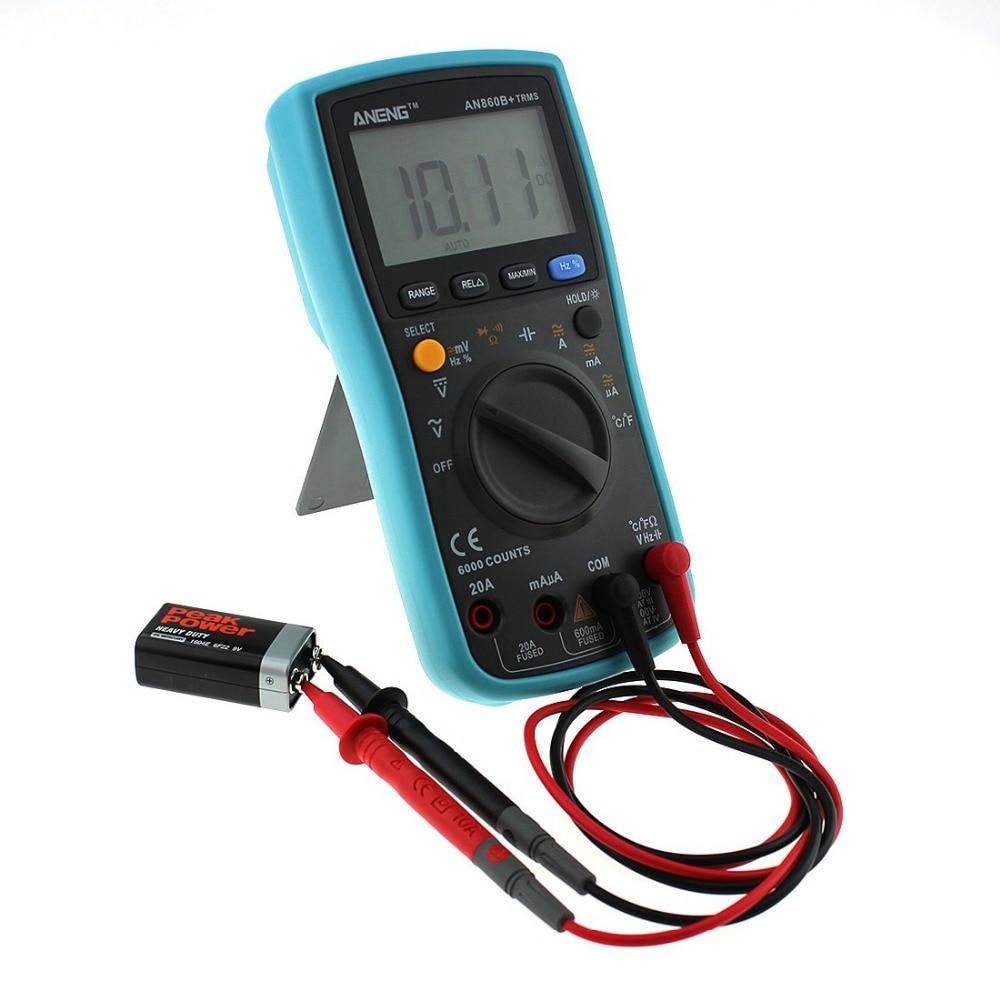 New ANG860B+ Backlight AC/DC Ammeter Voltmeter Ohm Portable Meter Digital Multimeter aneng an8002 digital multimeter 6000 counts backlight ac dc ammeter voltmeter ohm portable meter