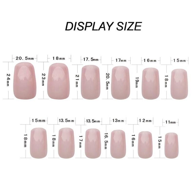MII nail tips size show