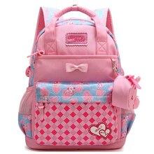 Kids Cartoon School Bags Children Backpacks Waterproof Nylon Girl Orthopedic School Bag High Quality Book Bag Grade 1-3 students все цены