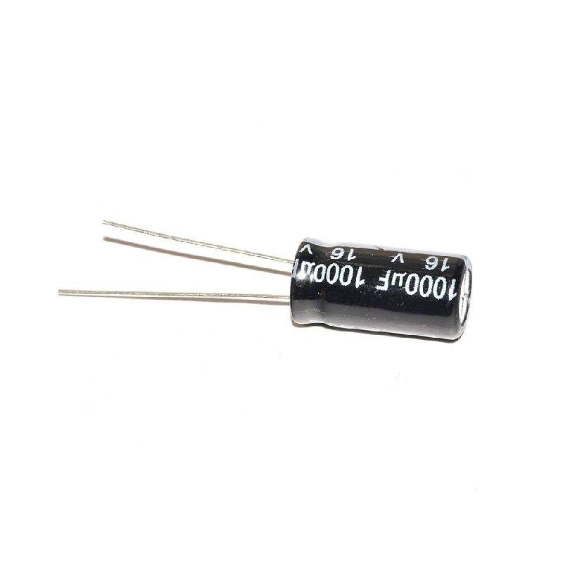 MCIGICM 500pcs Aluminum electrolytic capacitor 1000uf 16v 8*16 Electrolytic capacitor 1000 uf 16 in