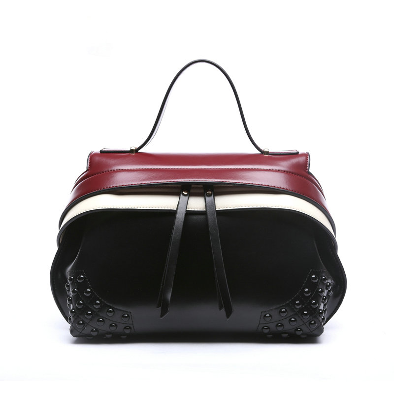The new 2017 Genuine leather handbag in Europe and the wind handbag brand high quality single shoulder bag portable his lady bag the original single in europe and america 2015