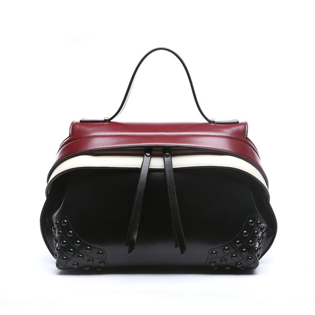 The New 2017 Genuine Leather Handbag In Europe And Wind Brand High Quality Single
