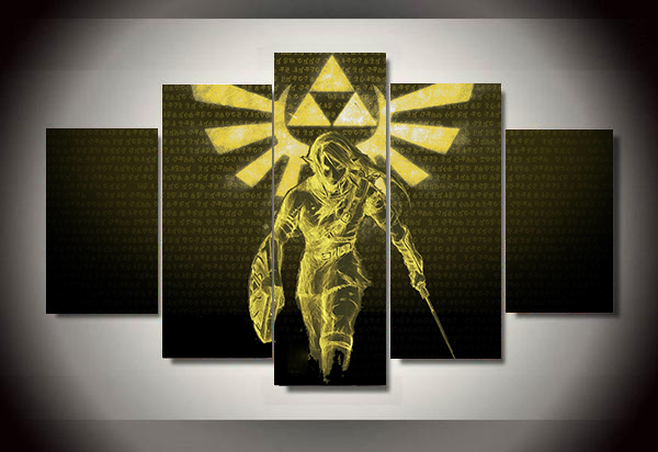 5 Piece Canvas Painting Panel Animated The Legend Of Zelda Decorations Poster picture painting home decor print wall art WD 1503-in Painting u0026 Calligraphy ... & 5 Piece Canvas Painting Panel Animated The Legend Of Zelda ...