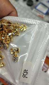 Image 3 - 100pcs Heart Clear Crystal Nail Charm silver gold Bow Nail DIY charm for nail gel mail polish design/ Bow Dangle jewelry ,JK8998