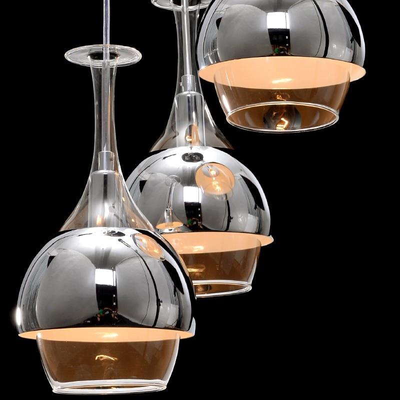 ФОТО Creative LED restaurant light Pendant Lights modern bar head single glass lamp