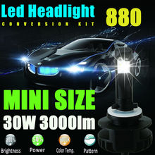 Newest 880 881 891 893 896 H27 Led Fog Bulb Lamp 60w 6000Lm 6000K Cool White Led Conversion Kit Replace HID Xenon Halogen Bulb